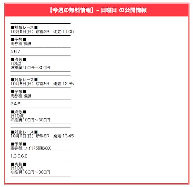 競馬会議_無料予想2019年10月06日新潟08R