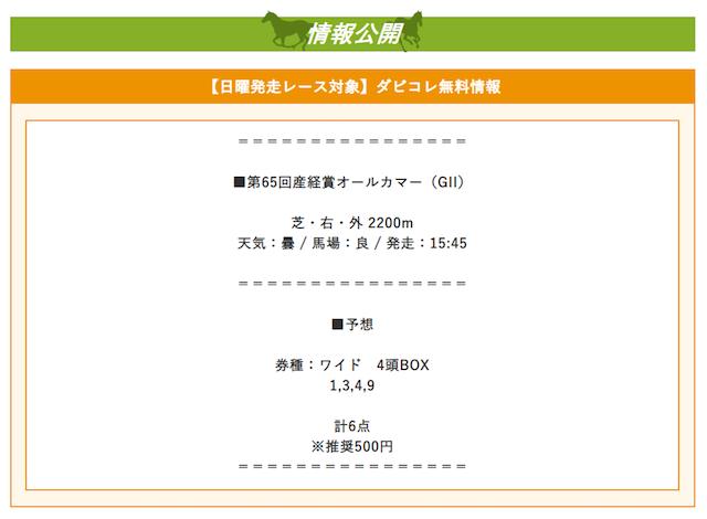 ダビコレ_無料予想2019年9月22日