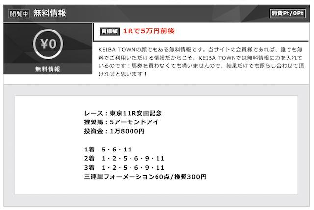 競馬タウンの無料予想2020年06月07日東京11R